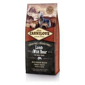 Carnilove Dog Lamb & Wild Boar for Adult 12kg + PAMLSKY