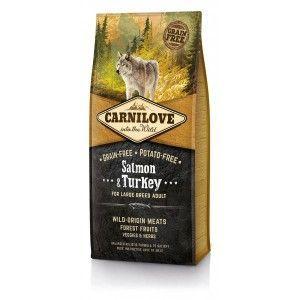 Carnilove Dog Salmon & Turkey for LB Adult 12kg + PAMLSKY