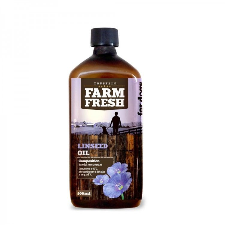 Lněný olej FARM FRESH 500ml Topstein