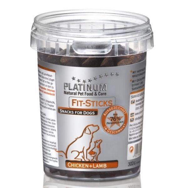Platinum Natural Fit Sticks Chicken & Lamb 300g