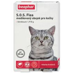 Beaphar Obojek antipar. kočka SOS adult 35cm