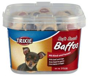 Soft Snack BAFFOS mini kolečka hovězí/dršťky 140g