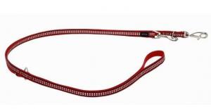 Vodítko reflexní přep. Red Dingo Bones 12mm x 2m - červené