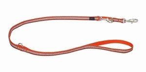 Vodítko reflexní přep. Red Dingo Bones 12mm x 2m - oranžové