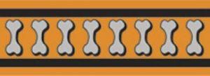 Vodítko reflexní přep. Red Dingo Bones 15mm x 2m - oranžové