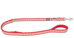 Vodítko reflexní přep. Red Dingo Ziggy 12mm x 2m - červené