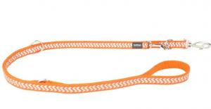 Vodítko reflexní přep. Red Dingo Ziggy 12mm x 2m - oranžové