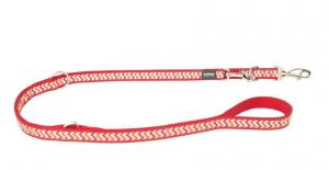 Vodítko reflexní přep. Red Dingo Ziggy 15mm x 2m - červené