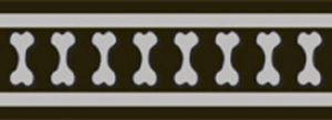 Vodítko reflexní Red Dingo Bones 12mm x 1,8m - černé