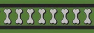 Vodítko reflexní Red Dingo Bones 12mm x 1,8m - zelené