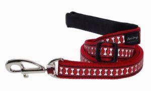 Vodítko reflexní Red Dingo Bones 25mm x 1,8m - červené