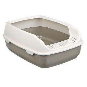 WC DELIO se zvýšeným okrajem 35x20x48cm šedo/krémová