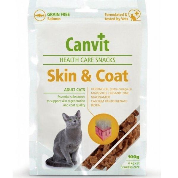 Canvit Snacks CAT Skin&Coat 100g