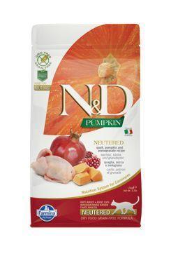 N&D GF Pumpkin CAT NEUTERED Quail&Pomegranate 1,5kg
