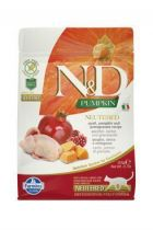 N&D GF Pumpkin CAT NEUTERED Quail&Pomegranate 300g