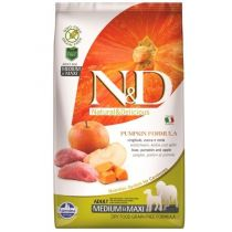 N&D GF Pumpkin DOG Adult M/L Boar&Apple 2,5kg