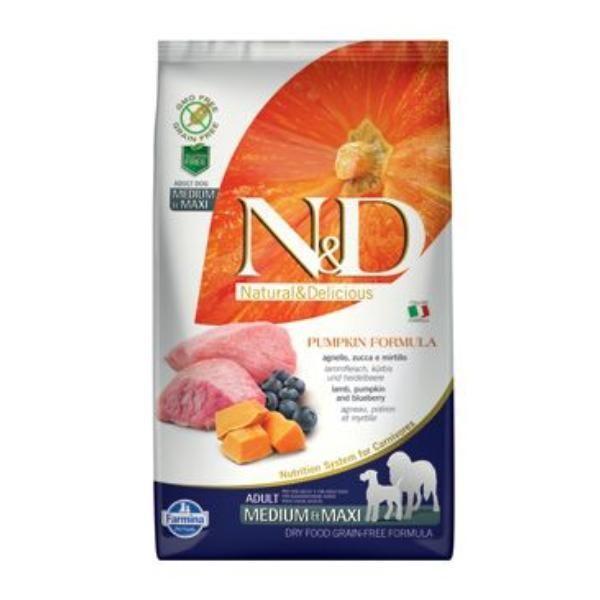 N&D GF Pumpkin DOG Adult M/L Lamb&Blueberry 2,5kg