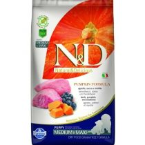 N&D GF Pumpkin DOG Puppy M/L Lamb&Blueberry 2,5kg