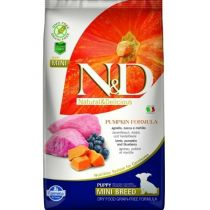N&D GF Pumpkin DOG Puppy Mini Lamb&Blueberry 800g