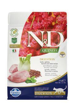 N&D GF Quinoa CAT Digestion Lamb&Fennel 300g