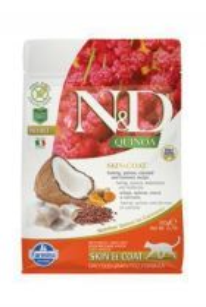 N&D GF Quinoa CAT Skin&Coat Herring&Coconut 300g