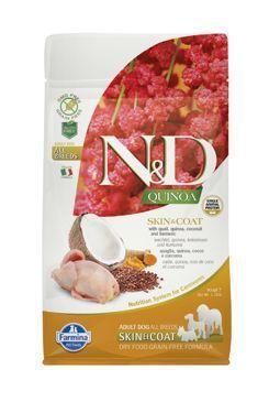 N&D GF Quinoa DOG Skin&Coat Quail&Coconut 800g