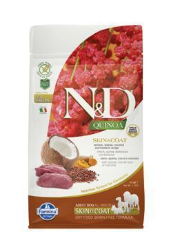 N&D GF Quinoa DOG Skin&Coat Venison&Coconut 800g