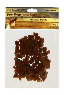 Pochoutka Tuňákové maso kostky 80g For Dogs and Cats