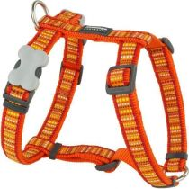 Postroj se vzorem Red Dingo 12mm x 30-44cm - Lotzadotz Orange