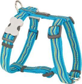 Postroj se vzorem Red Dingo 20mm x 45-66cm - Dreamstream Turquoise