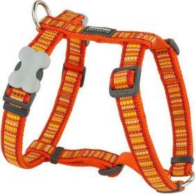 Postroj se vzorem Red Dingo 20mm x 45-66cm - Lotzadotz Orange