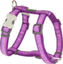 Postroj se vzorem Red Dingo 25mm x 56-80cm - Butterfly Purple