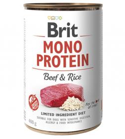 Brit Mono Protein Beef & Brown Rice - konzerva pro psy 400g