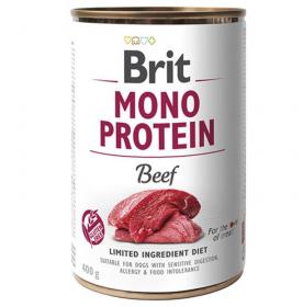 Brit Mono Protein Beef - konzerva pro psy 400g