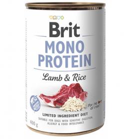 Brit Mono Protein Lamb & Brown Rice - konzerva pro psy 400g