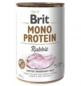 Brit Mono Protein Rabbit - konzerva pro psy 400g