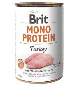 Brit Mono Protein Turkey - konzerva pro psy 400g