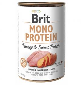 Brit Mono Protein Turkey & Sweet Potato - konzerva pro psy 400g