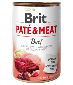 Brit Paté & Meat Beef - konzerva pro psy 400g