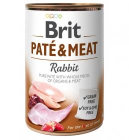 Brit Paté & Meat Rabbit - konzerva pro psy 400g