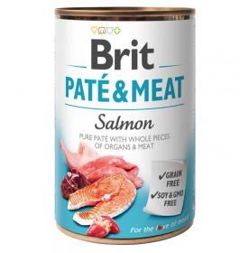 Brit Paté & Meat Salmon - konzerva pro psy 400g
