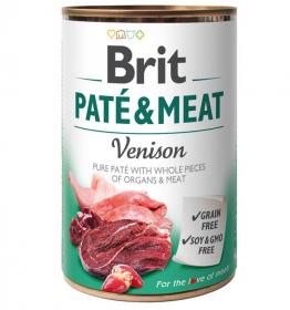 Brit Paté & Meat Venison - konzerva pro psy 400g