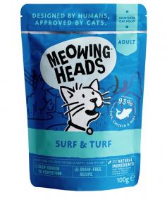 Meowing Heads Surf & Turf - kapsička pro kočky 100g
