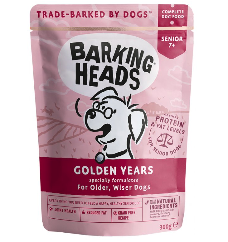 Barking Heads Golden Years - kapsička pro psy 300g