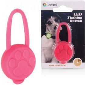 LED přívěšek na obojek silikonový růžový