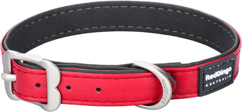 Obojek Red Dingo Elegant 20 mm x 34-42 cm - červená