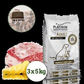 Platinum Natural Adult Iberico&Greens - Kančí se zeleninou 15kg - po registraci cena 2229,- Kč + PAMLSKY
