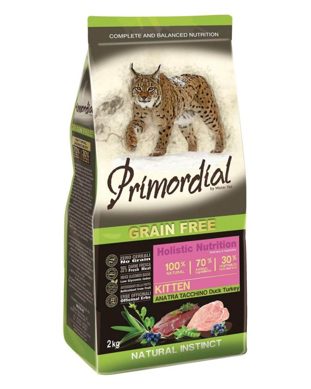 Primordial Grain Free Kitten Duck & Turkey 2kg