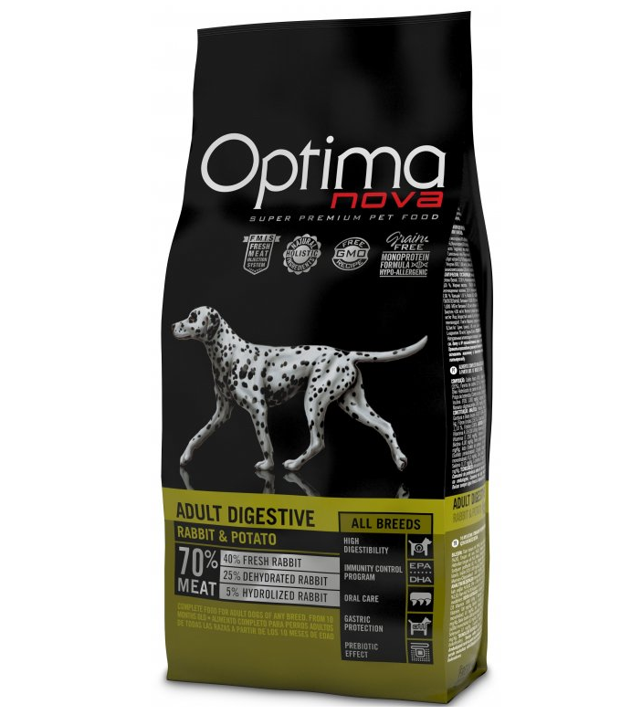 OPTIMAnova dog ADULT DIGESTIVE GRAIN FREE Rabbit 12kg