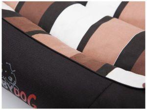 Pelíšek pro psa Comfort - černý a pruhy